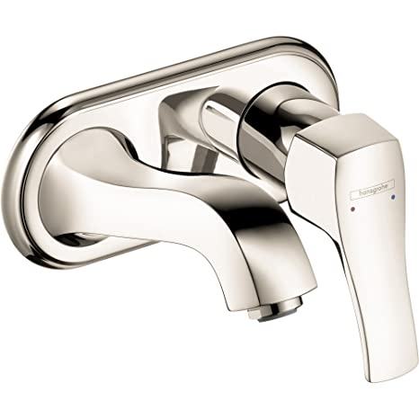Hansgrohe 31003831 Metris C Wall Mounted Faucet, Polished Nickel