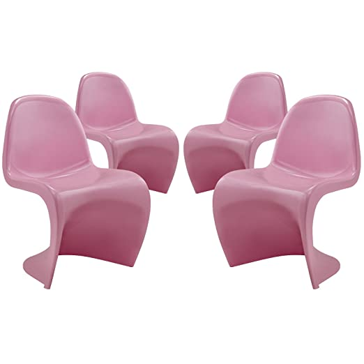 Slither Dining Side Chair Set of 4 - Pink