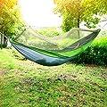 Hängematte, Holifine® Reisehängematte Nylongewebe Camping Hängematten Mit Moskitonetzen Hochfester Belastbarkeit bis 200 kg von Wanhemei bei Gartenmöbel von Du und Dein Garten