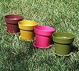 8 ct. Plastic Flower Pots & Saucers - 4