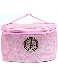 Color Fever Women's Multi Purpose Makeup Bag / Vanity Pouch / Toiletry Travel Kit / Bag Organiser (Baby Pink)