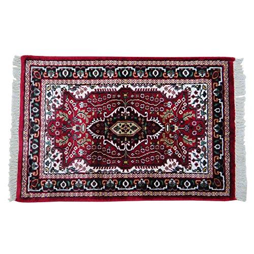 Alfombra hecha a mano decoraci n del hogar indio rojo - Cubre piso alfombra ...