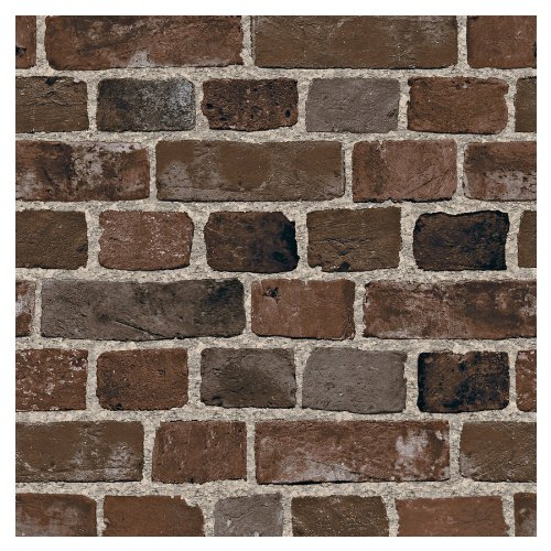 allen   roth Brown Brick Wallpaper LW1340926 Kitchen