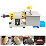 Upgraded Jewelry Polishing Machine,350W Mini Multifunction Rock Polisher Bench, Buffer Bench Lathe Saw Kit for Gem Metal with Grinding Accessories Kit 220V(DHL,4-7 Business Days Delivery) (Color: 220V, Tamaño: 165mm*190mm*127mm)