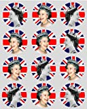 #4: 12 Queen Elizabeth Royal rice paper fairy / cup cake 40mm toppers pre cut Suitable For Diamond Jubilee