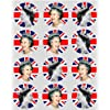 12 Queen Elizabeth Royal rice paper fairy / cup cake 40mm toppers pre cut Suitable For Diamond Jubilee