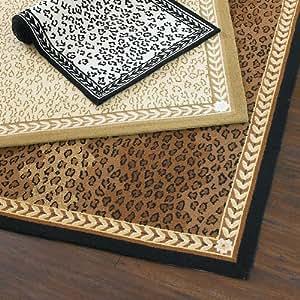 Leopard vine rug green 2 39 6 x 10 39 ballard for Ballard designs bathroom rugs