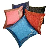 Ufc Mart Jacquard Multi -Color Cushion Cover 5 Pc. Set, Color: Multi-Color, #Ufc00453