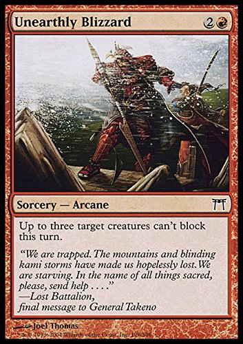 Magic: the Gathering - Unearthly Blizzard - Bufera Sovrannaturale - Champions of Kamigawa - Foil