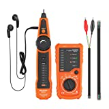 Meterk Wire Tracker RJ11 RJ45 Line Finder Handheld Cable Tester Multifunction Cable Check Wire Measuring Instrument for Network Maintenance Collation, Telephone Line Test, Continuity Checking (Color: Wire Tracker Accessories)