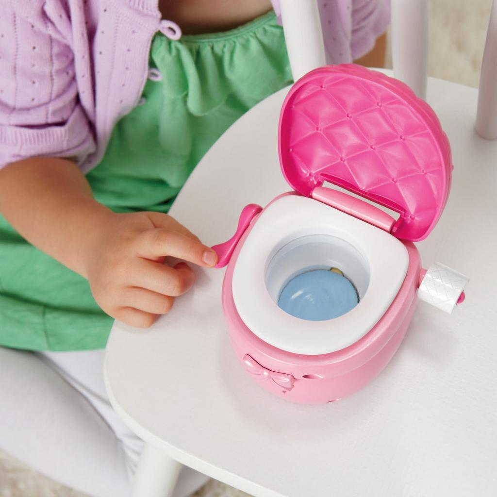 Toy Toilet Flushing Sound : Amazon little mommy princess and the potty doll toys