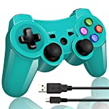 Double Vibrating Wireless Controller for PS3 With Charge Cable (Bright green )