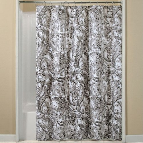 Black And White Paisley Peva Shower Curtain
