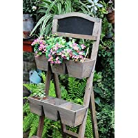 Wood Plant Stand / Flower Shelf for Outdoor or Greenhouse, Three Tiers Product SKU: GD221916