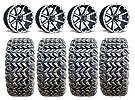 Fairway Alloys Rebel Golf Wheels 12″ EFX Blade 23×10.5-12 Tires EZ-GO/Club Car