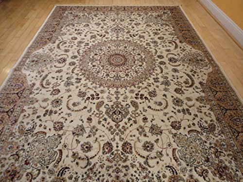 Stunning silk rug persian traditional area rugs 7x10 for Living room rugs 6x9