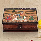 Handicrafts Gift House Home Décor Handicrafts|Decorative Handicrafts|Home Décor| Wooden Hand Painted Dhola Maru Jewellery Box 330