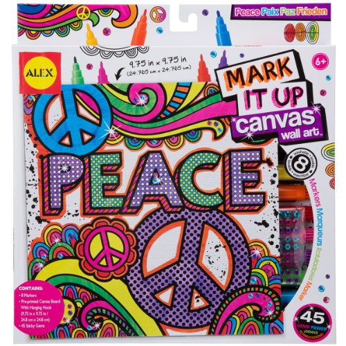 ALEX Toys Artist Studio Peace Mark It Up Canvas Wall Art
