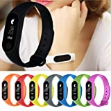 Liu Nian 2018 Fashion M2 Smart Band Sleep Sports Fitness Activity Message Remind Tracker Pedometer Bracelet Watch Android (Black) (Color: Black)
