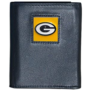NFL Green Bay Packers Leather Tri-fold Wallet from Siskiyou Gifts Co, Inc.