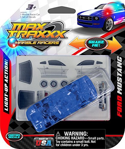 Max Traxxx Ford Mustang Light Up Marble Racer Car