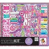 me & my BIG ideas 12-Inch by 12-Inch Scrapbooking Kit, Tie Dye Peace Friends