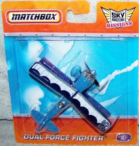 Matchbox Sky Busters Missions - Dual Force Fighter - Blue - 1