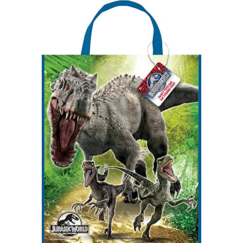 "Large Plastic Jurassic World Favor Bag, 13"" x 11"" - 1"