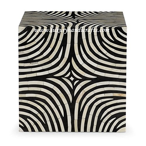Bone Table Zebra Cube Design