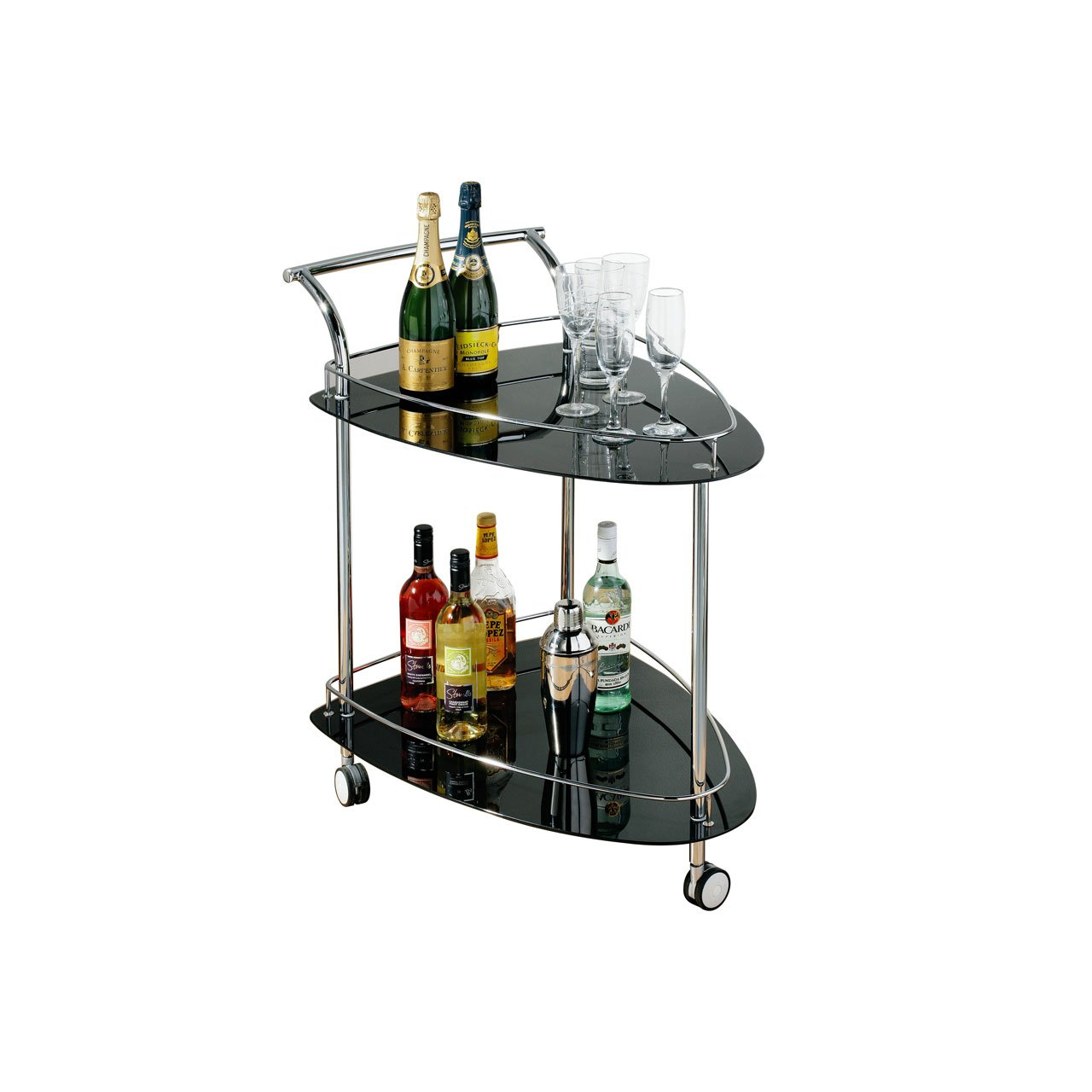 Premier Housewares 2 Tier Serving Trolley   Black       Customer reviews and more information
