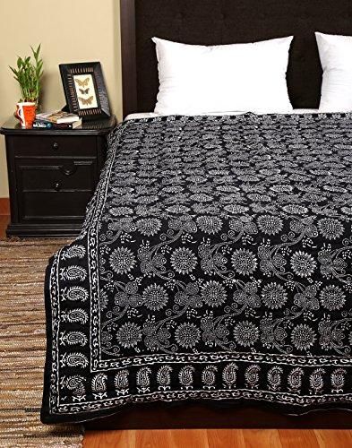 Indian Mano algodón Bloque Impreso edredones de invierno edredones