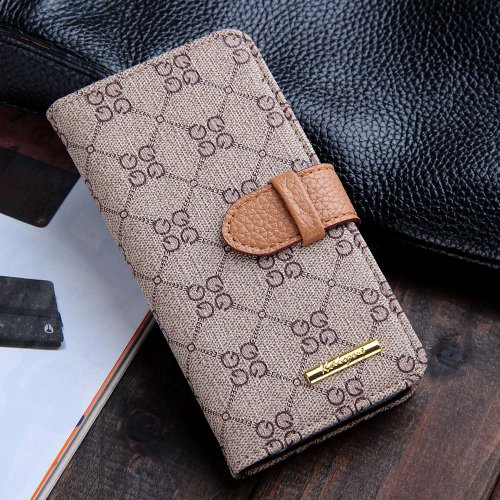 New Version Luxury Classic Beige GG Patterned Leather Cases Flip Covers Wallet for Apple iPhone 5 5G 5S for Men Women Girls High Quality Vintage Retro Chic Style
