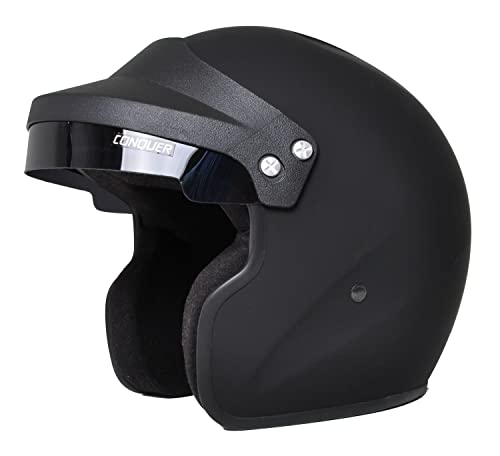 CONQUER SNELL APPROVED OPEN FACE MOTORCYCLE HELMET