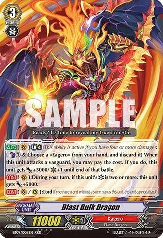 Cardfight!! Vanguard Tcg - Blast Bulk Dragon (Eb09/003En) - Extra Booster Pack 9: Divine Dragon Progression front-855352