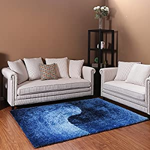 Ustide unique vivid pattern blue carpet for living room for Durable carpet for family room