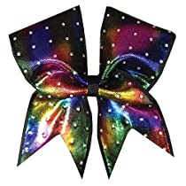 Idol Shimmer Tie Dye Cheer Bow