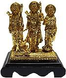 Odishabazaar Poly Resin Gold Finish Ram Darvar Handicraft Idol