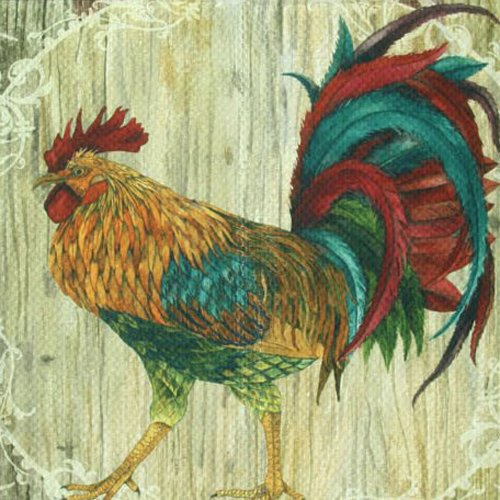 "Standsoft Anti Fatigue Mat, Runner Kitchen Rug, 55"" x 20"", Rooster Strut"