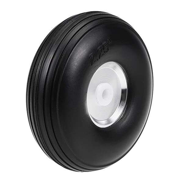 uxcell Tire and Wheel Sets for RC Car Airplane,PU Sponge Tire with Aluminum Alloy Hub,2.25 inches (Tamaño: 2.25 Aluminum Hub)