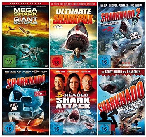 DIE GROSSE HAI BOX COLLECTION ( Fan-Paket mit 15 Hai-Film Klassiker incl. Sharknado 1-3 - 3 Headed Shark Attack - Jurassic Shark 1-3 ) [9 DVDs]