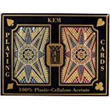 Kem Bridge Size Casino Club Stargazer Setup Playing Cards (Maroon/Blue)
