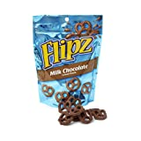 Flipz Chocolate Covered Pretzels, Milk Chocolate, 7.5 Ounce (Gift Pack of 8)