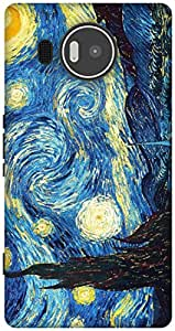 The Racoon Grip Starry Night - Van Gogh hard plastic printed back case / cover for Microsoft Lumia 950 XL