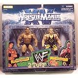 WWF THE ROCK AND OWEN HART 2 Tuff 3 Figures Jakks