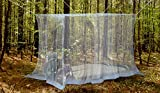 #1 Outdoor Mosquito Net By NATURO -The Largest Double Bed Mosquito Net Canopy - Insect Malaria Repellent - Free Bonuses: 2 Insect Repellent Bracelets , A Full Hanging Kit, Carry Bag + Free E-book