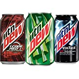 Mountain Dew Variety Pack, With Mtn Dew, Code Red, and Voltage Soda Pop, 12 Ounce Cans, 24 Count