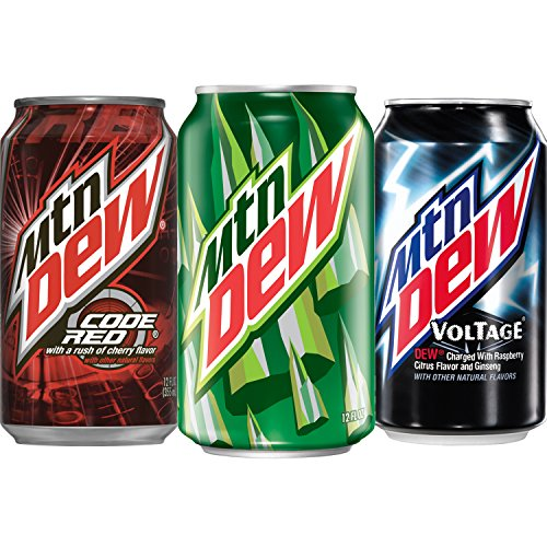 Mountain Dew Variety Pack, With Mtn Dew, Code Red, and Voltage Soda Pop, 12 Ounce Cans, 24 Count (Mountain Dew Can compare prices)