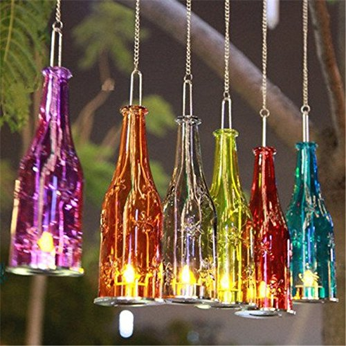 Beer Bottle Hanging Glass Candlestick Candleholder Candlelight Candelabra Romantic Wedding Decor