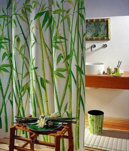 Set De Baño Bambu Dupree:Bambus WC Bad Set Seifenspender Garnitur Zahnpu Duschvorhang