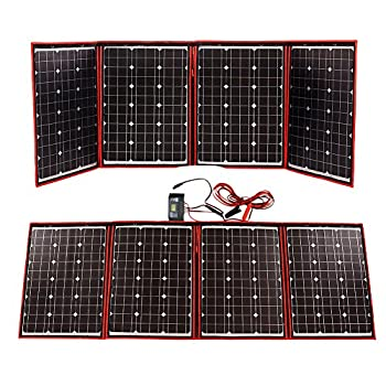 Dokio 200 Watts 12 Volts Monocrystalline foldable Solar Panel with Inverter Charge Controller